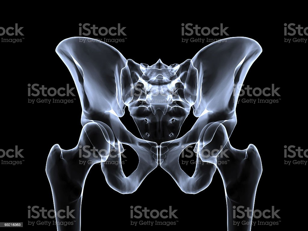 Pelvis roentgen stock photo