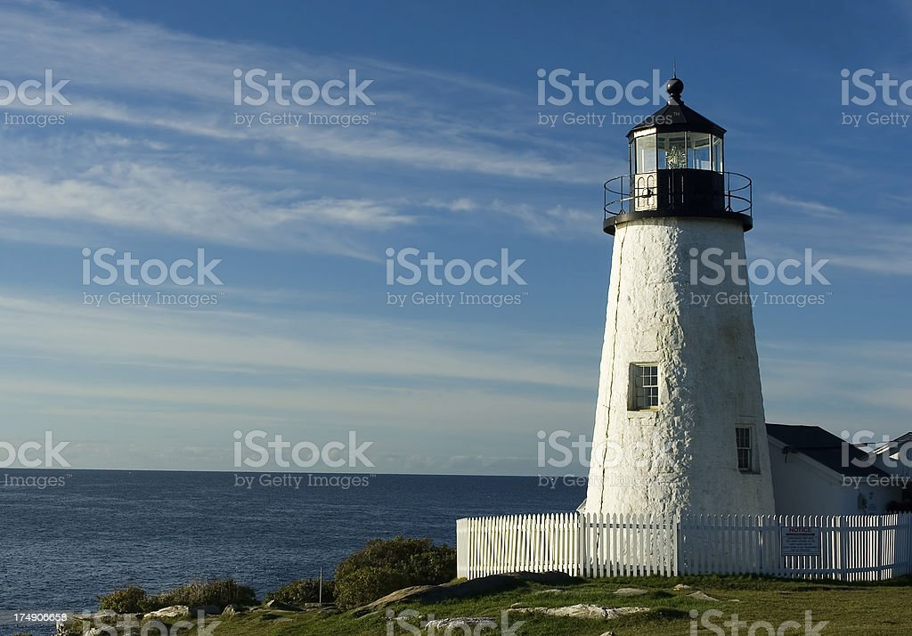 Pemaquid lighthouse royalty-free stock photo