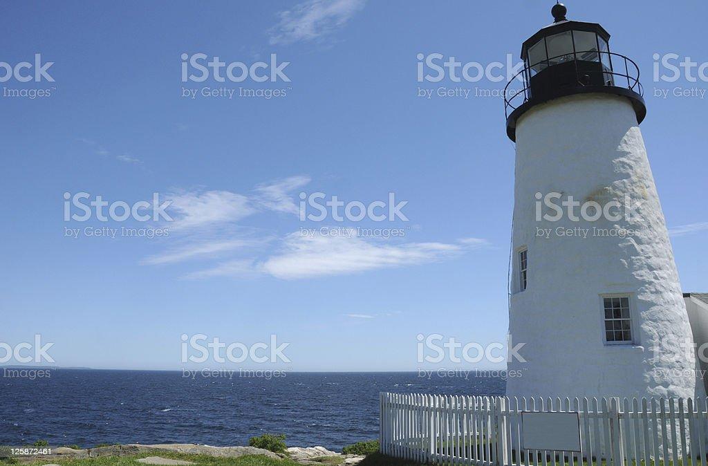 Pemaquid Point Light,  Maine stock photo