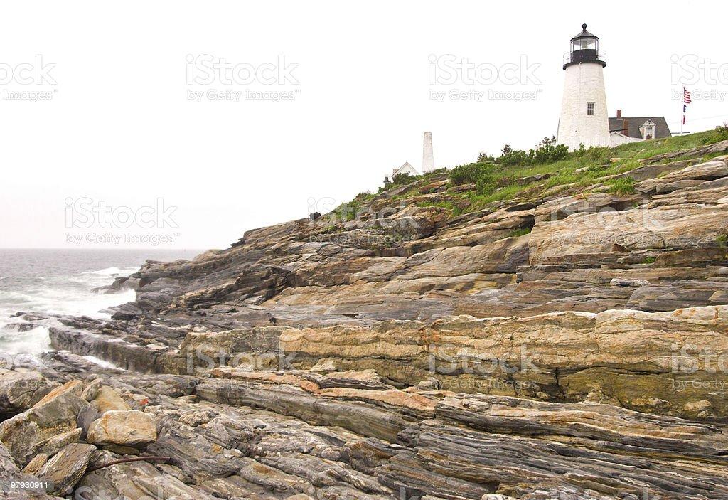 Pemaquid Point Light royalty-free stock photo