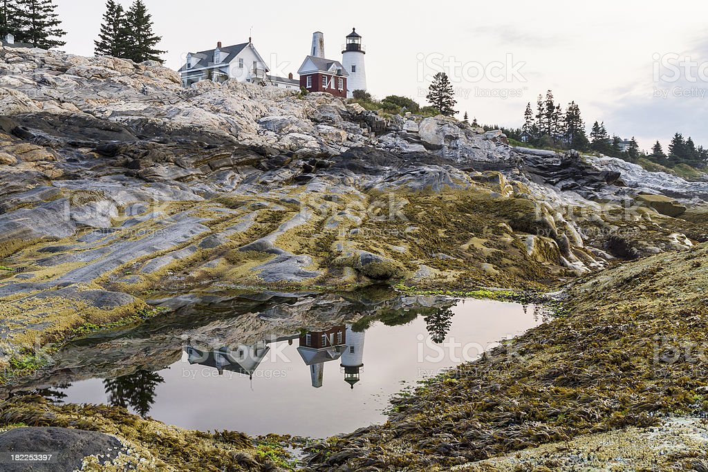 Pemaquid Point Light Reflected royalty-free stock photo