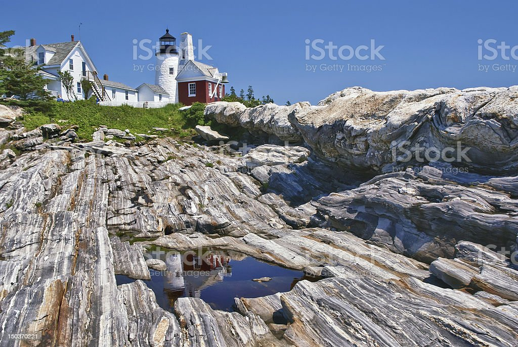 Pemaquid Point Lighthouse in Maine royalty-free stock photo