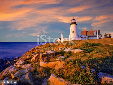 The Pemaquid Point Light is a historic U.S. lighthouse located in Bristol, Lincoln County, Maine, at the tip of the Pemaquid Neck.