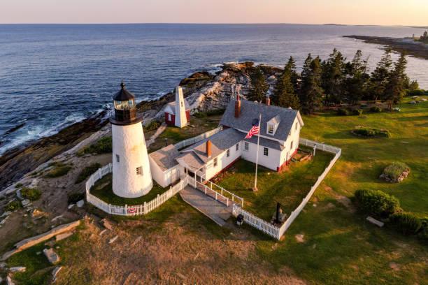 Pemaquid Point Lighthouse, Maine, USA. – Foto