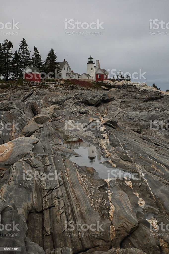 Pemaquid reflections stock photo