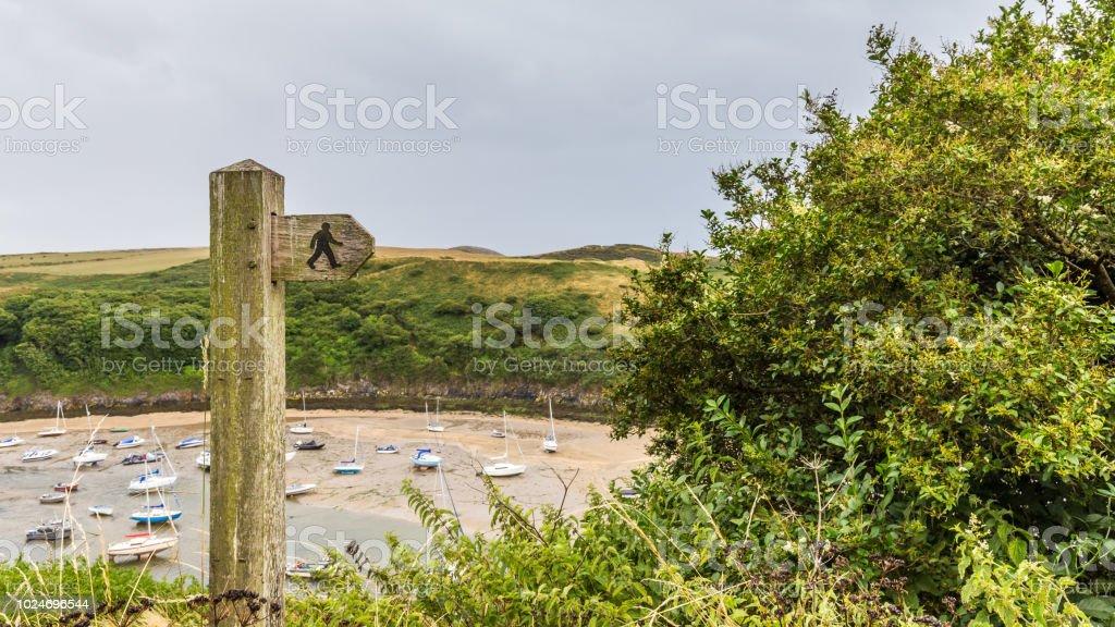 Pembrokeshire Coast path, Wales, UK foto