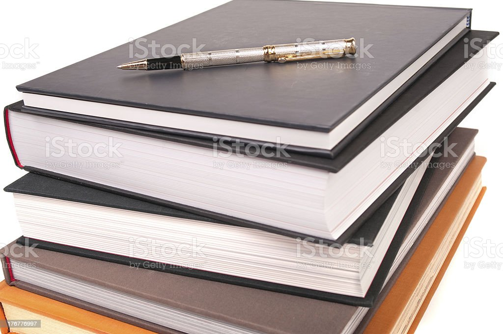Pen and Books royalty-free stock photo