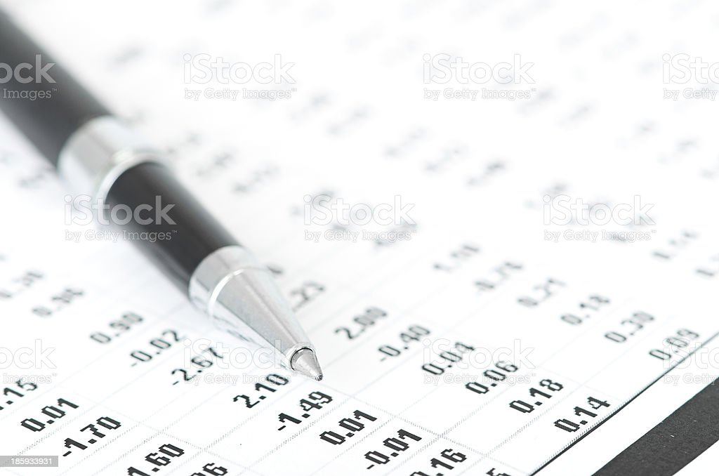 pen and calculator royalty-free stock photo