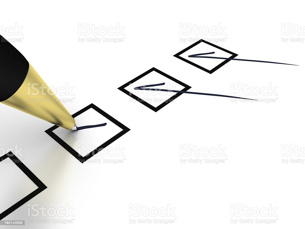 Pen and Checklist royalty-free stock photo