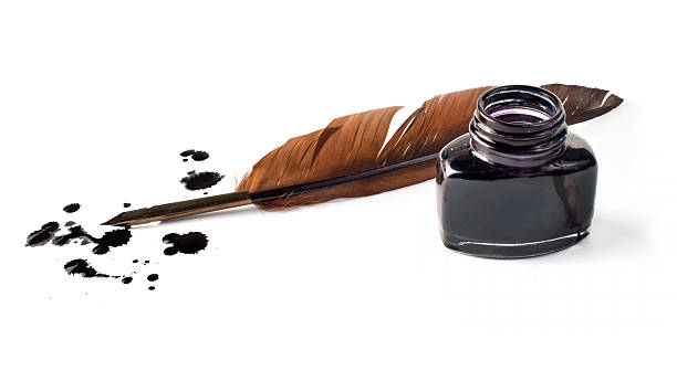 pen and ink - ink well stock photos and pictures