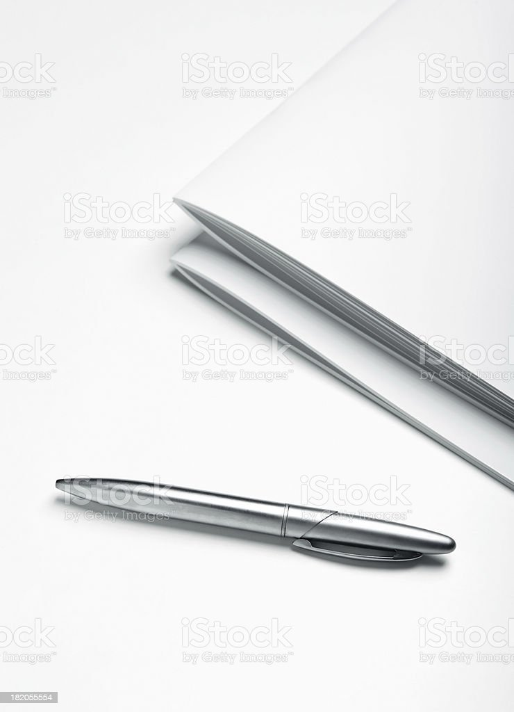 Pen and Magazines royalty-free stock photo