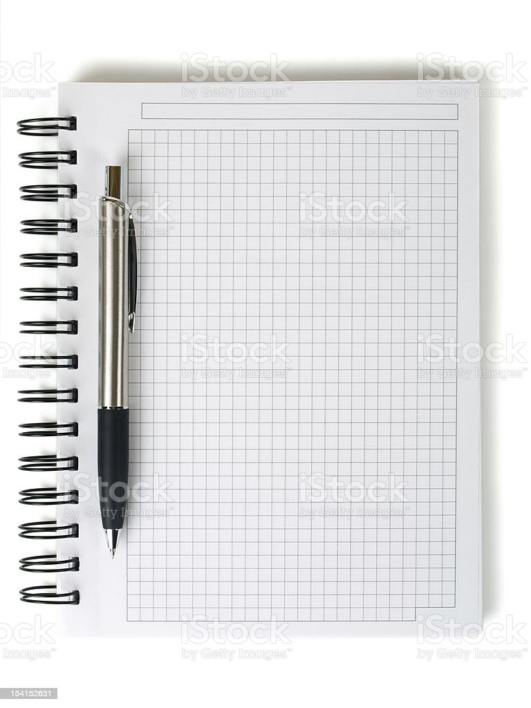 pen and notepad w clipping path royalty-free stock photo