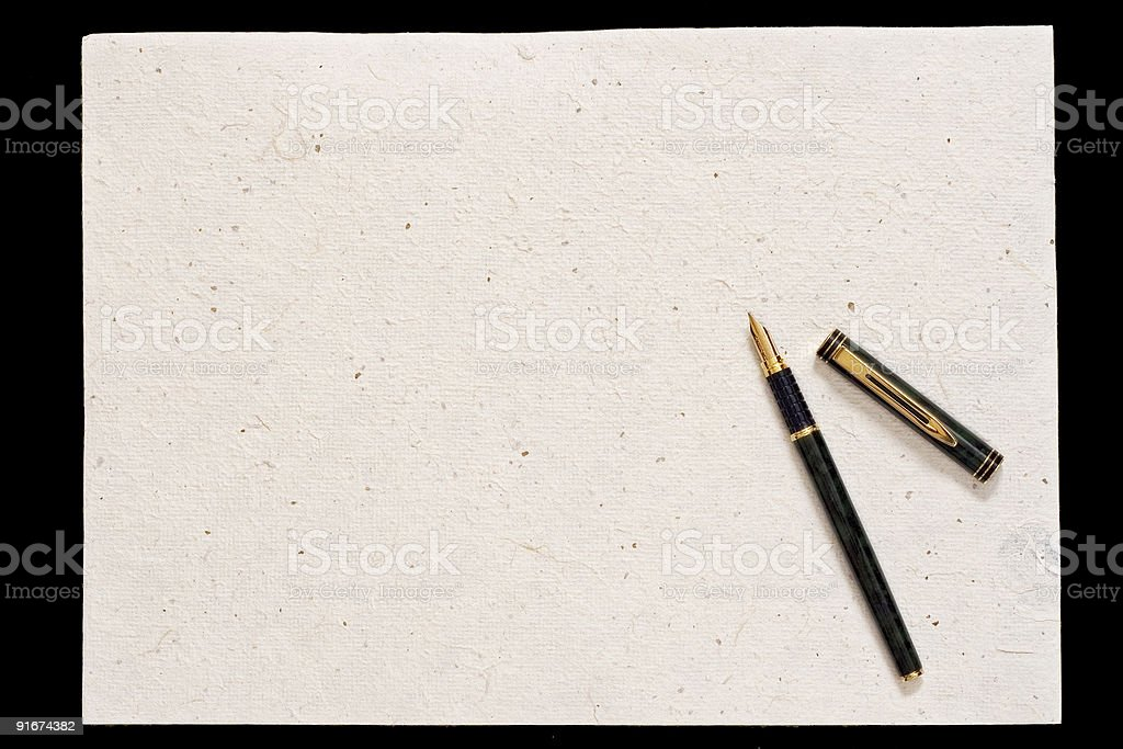 Pen and old paper royalty-free stock photo
