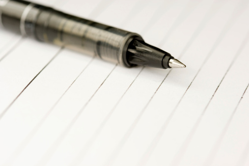 Pen And Paper Stock Photo - Download Image Now