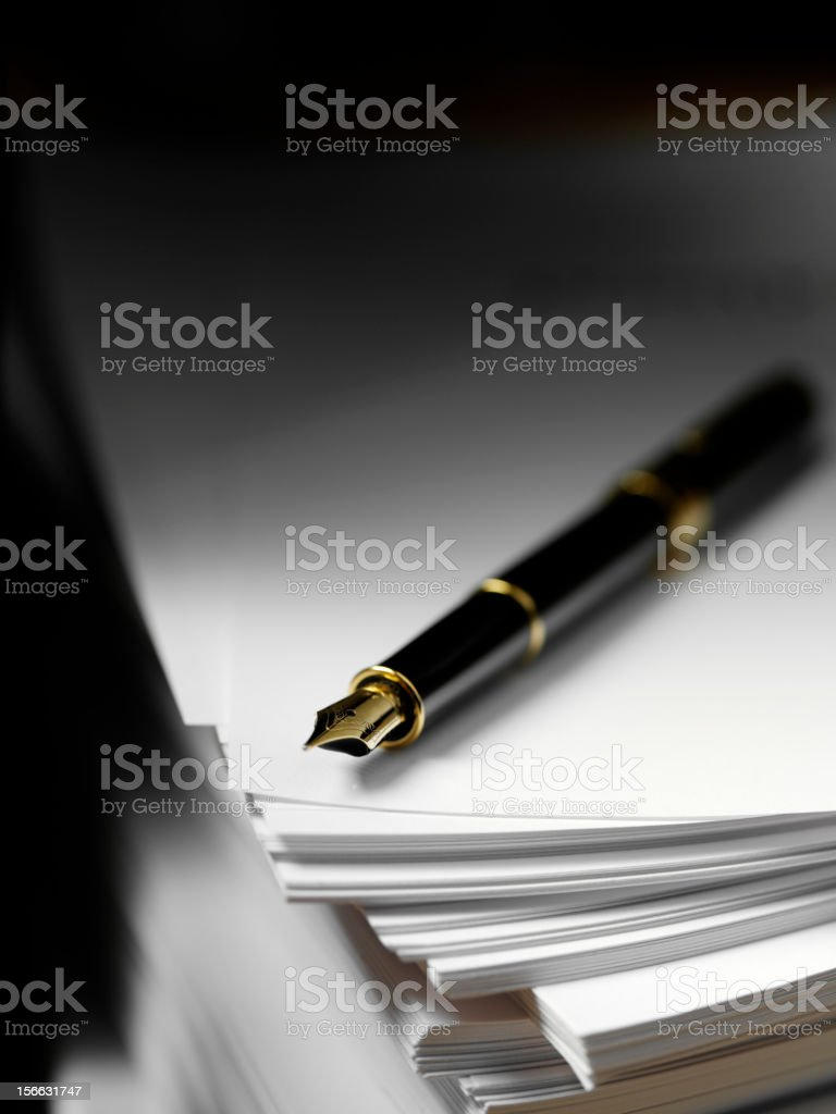 Pen and Paper royalty-free stock photo