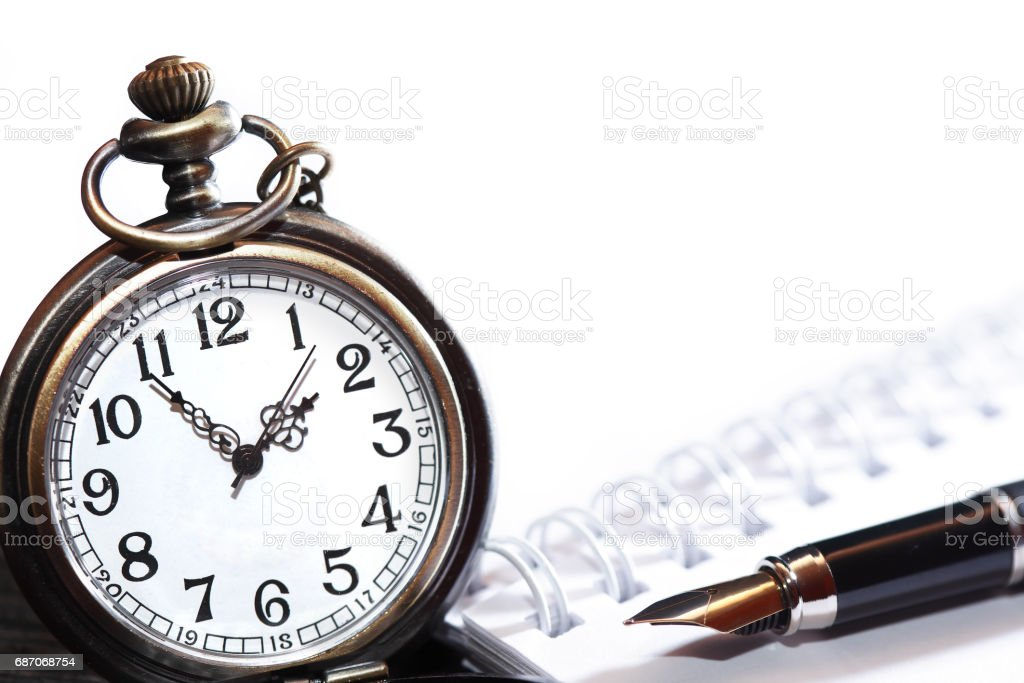 Pen And Watch stock photo