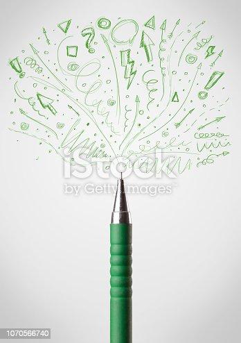 istock Pen drawing sketchy arrows 1070566740