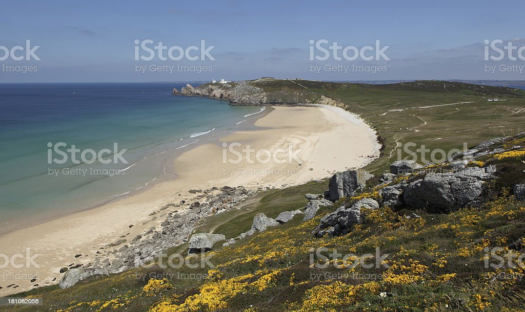Pen hat beach in Brittany, France stock photo