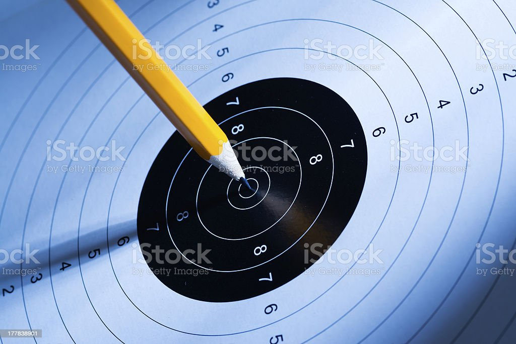 Pen hits the target stock photo