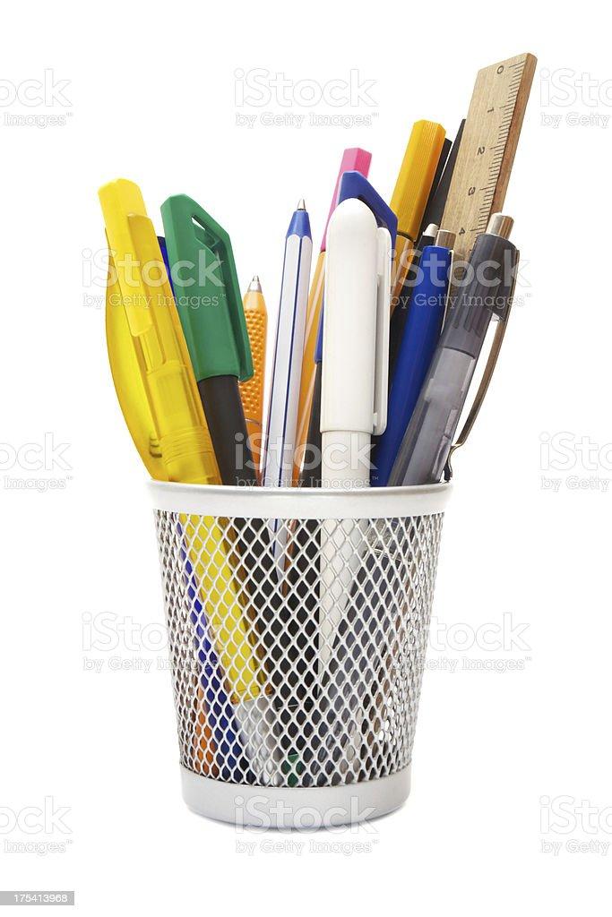 Pen Holder stock photo
