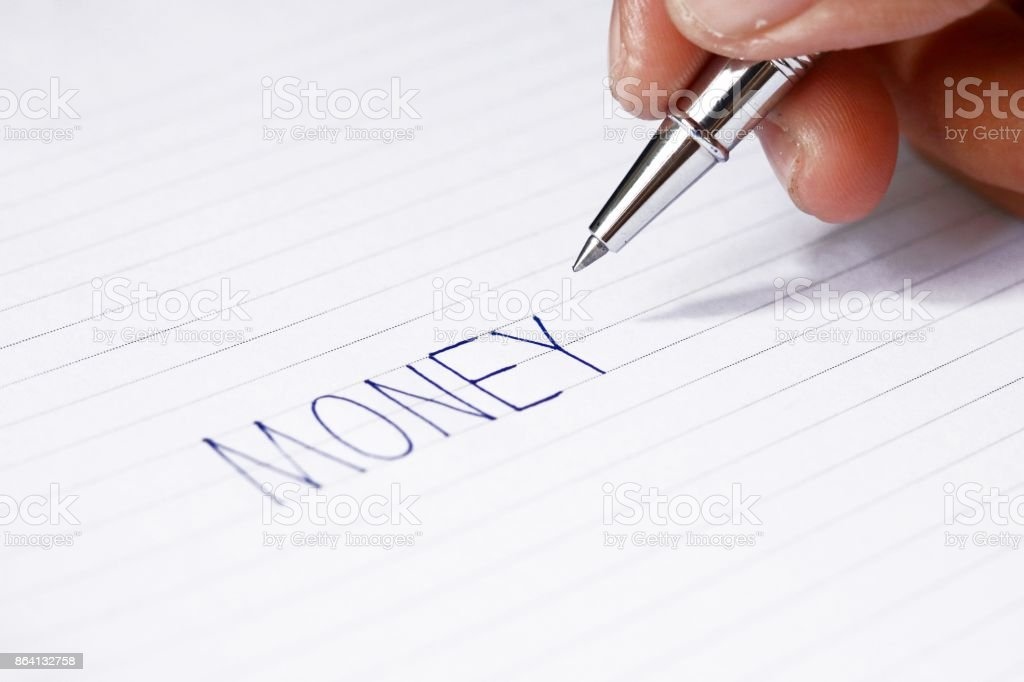 pen in man's hands royalty-free stock photo