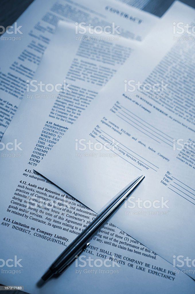 Pen lying on Contact royalty-free stock photo