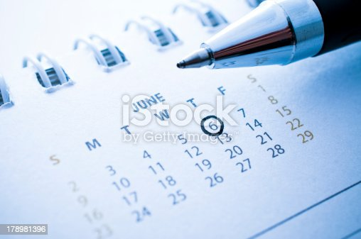 istock pen marked day on the calendar. 178981396