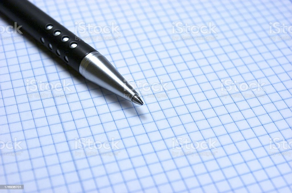 Pen. Notebook royalty-free stock photo