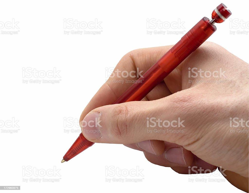 Pen on white background stock photo