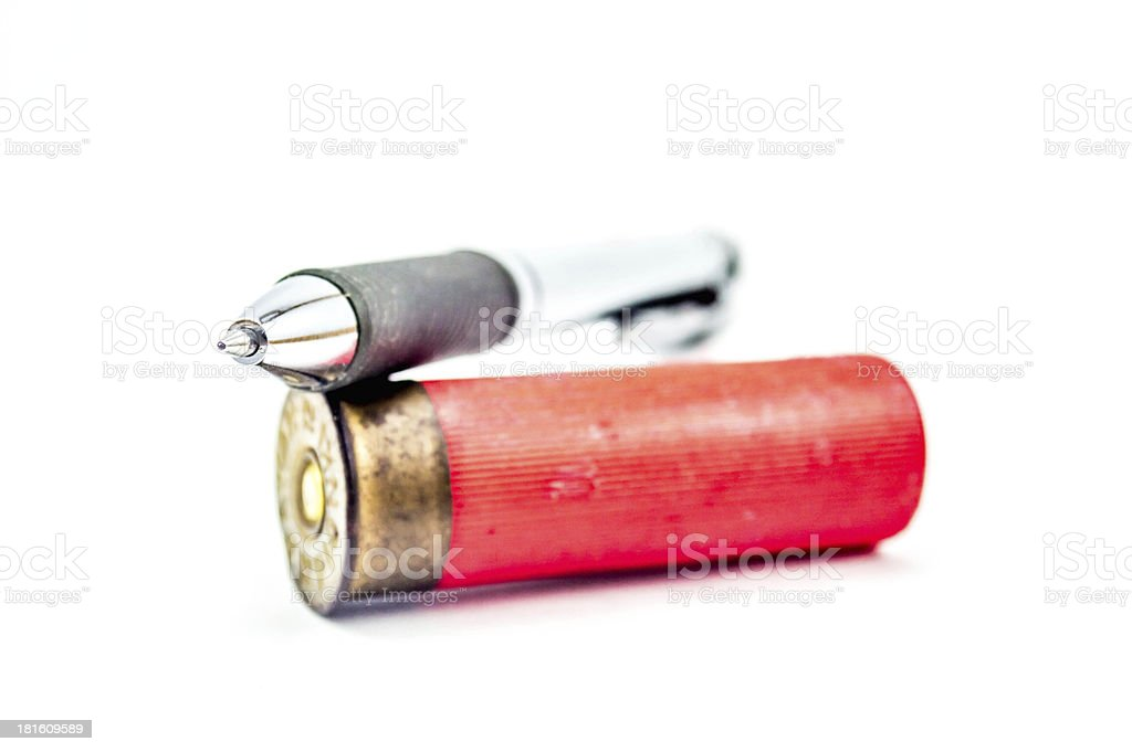 Pen or bullet stock photo