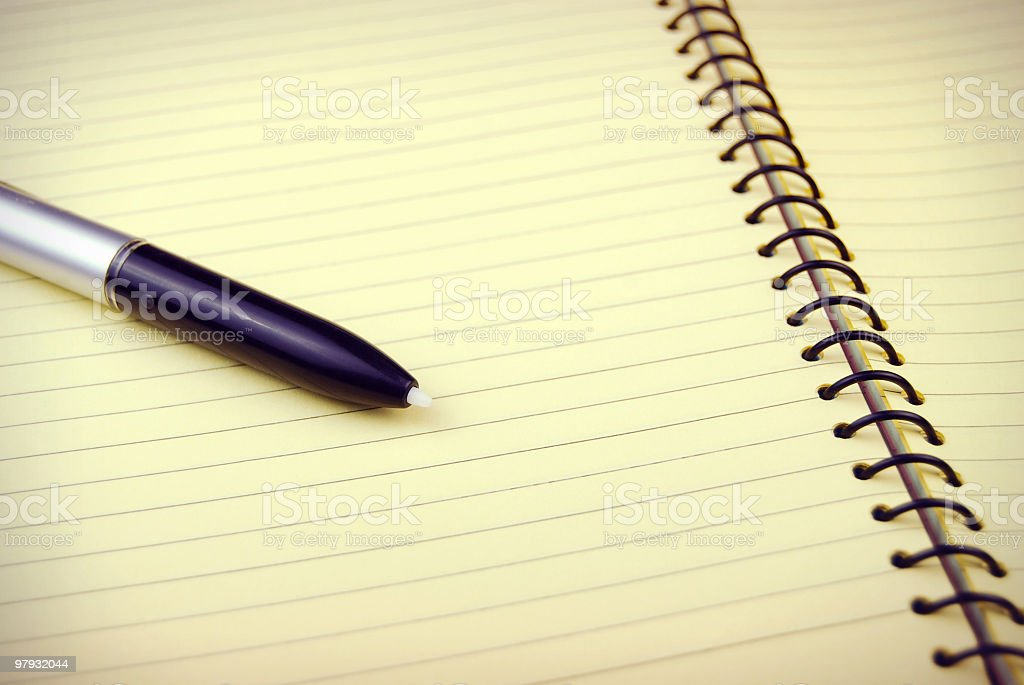 Pen over a blank pad!! royalty-free stock photo
