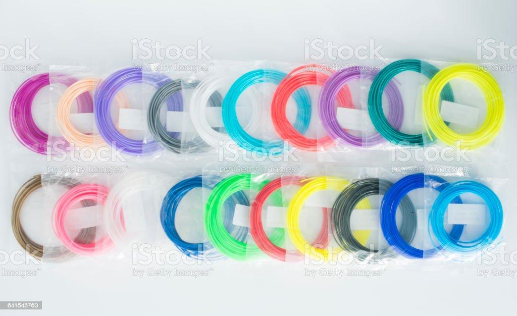 3D Pen PLA Filament Refills stock photo