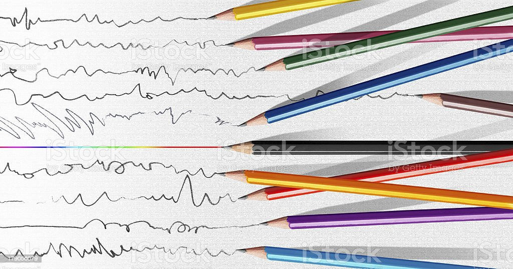 pen stand out from the crowd royalty-free stock photo