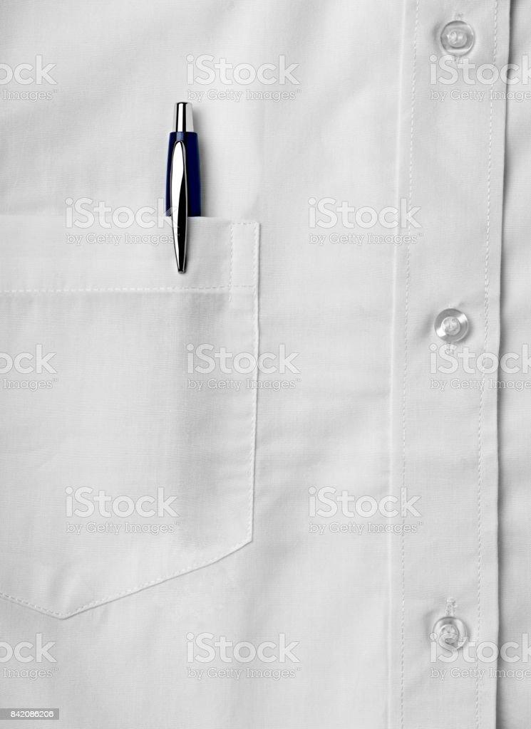 negocio de camisa blanca pluma - foto de stock