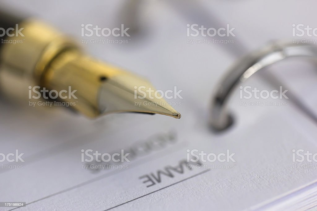 pen witch notebook royalty-free stock photo