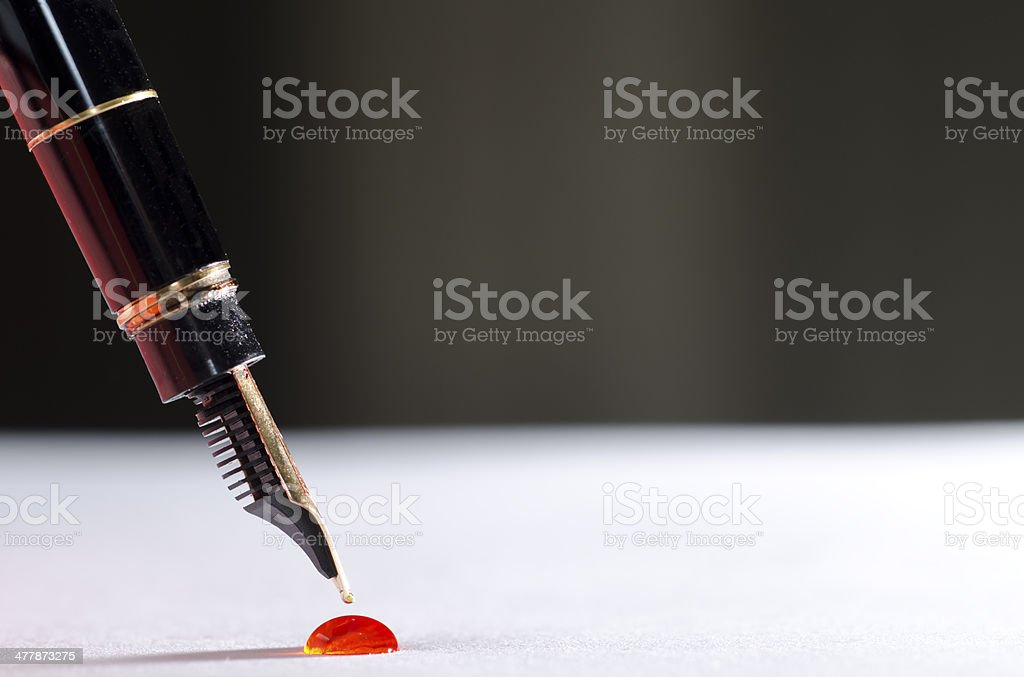Pen with ink stock photo