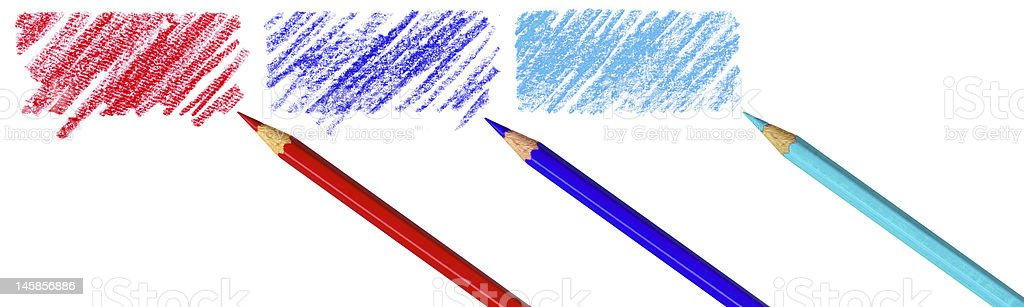 Pen with scribbles royalty-free stock photo