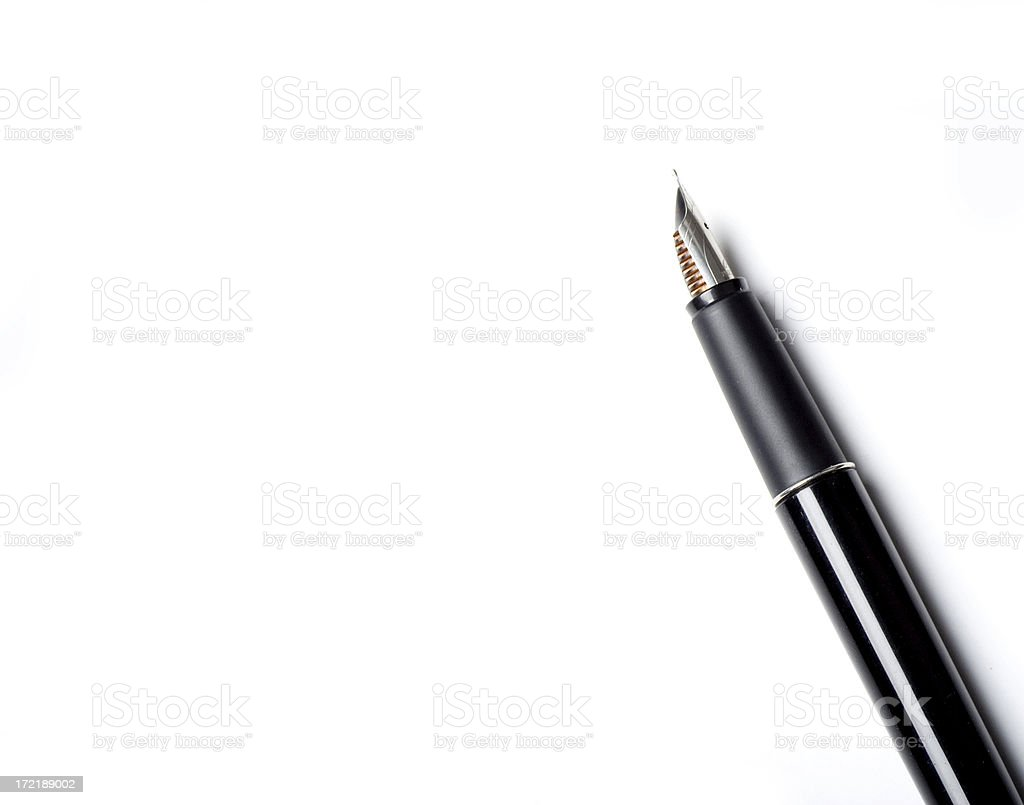 Pen with space for your text stock photo