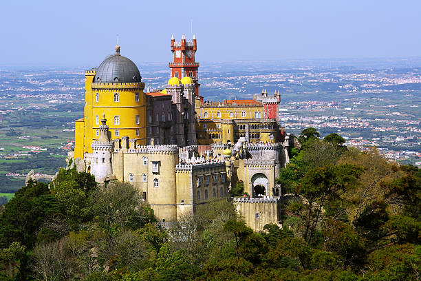 pena palace - portugal stock photos and pictures