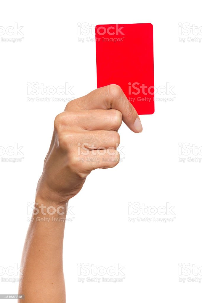 Penalty Card stock photo