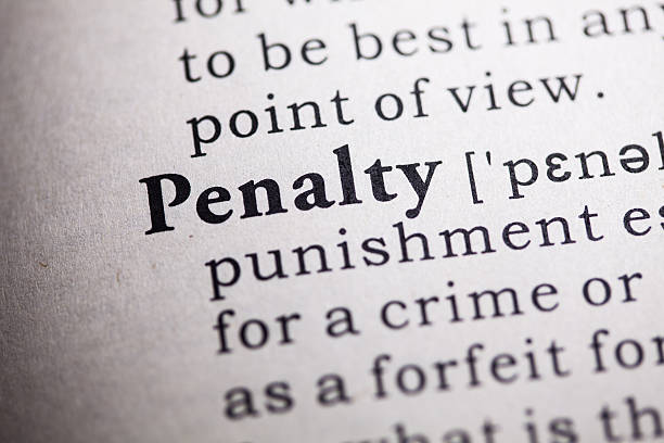 penalty Fake Dictionary, Dictionary definition of the word penalty. punishment stock pictures, royalty-free photos & images