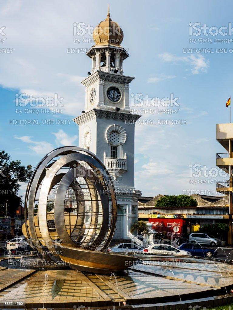 Penang's clock tower stock photo