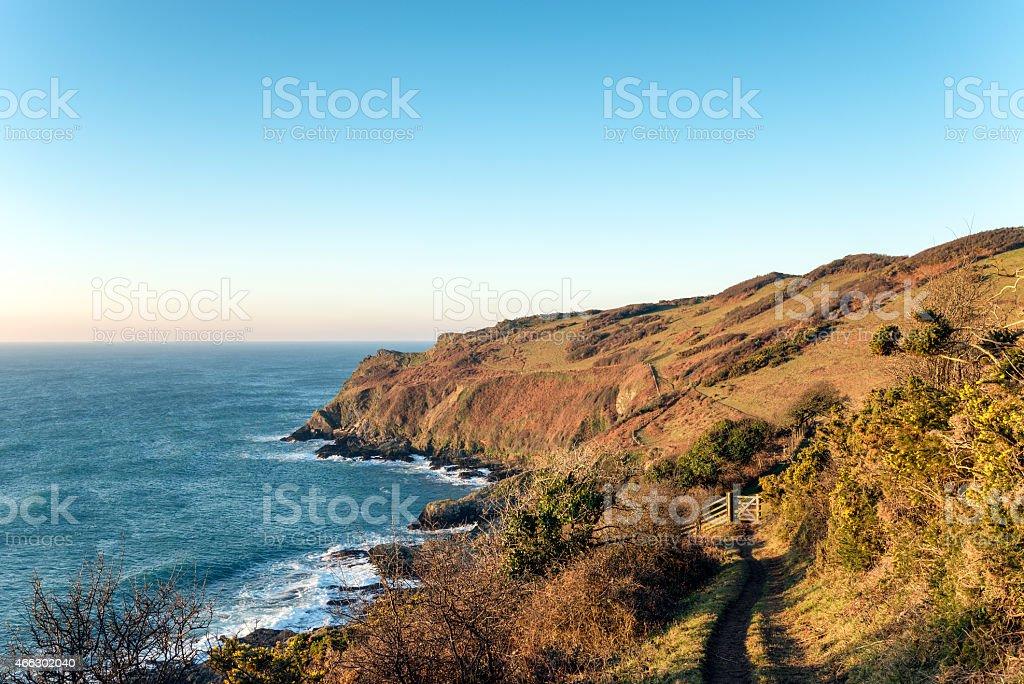 Pencarrow Head in Cornwall stock photo
