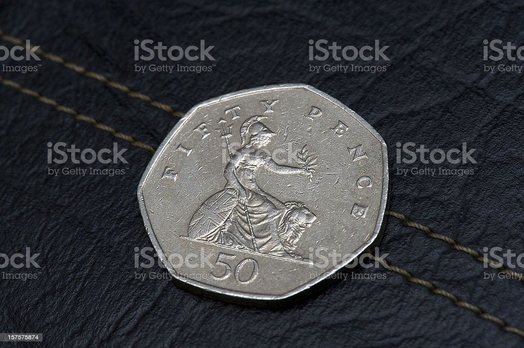 50 Pence stock photo