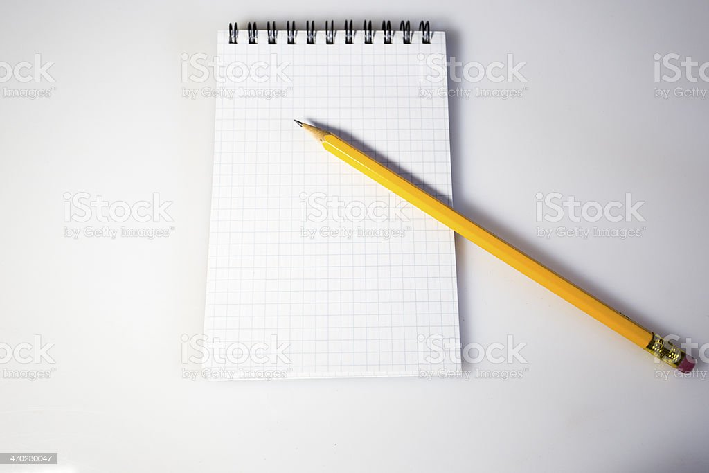 pencil and block notes royalty-free stock photo