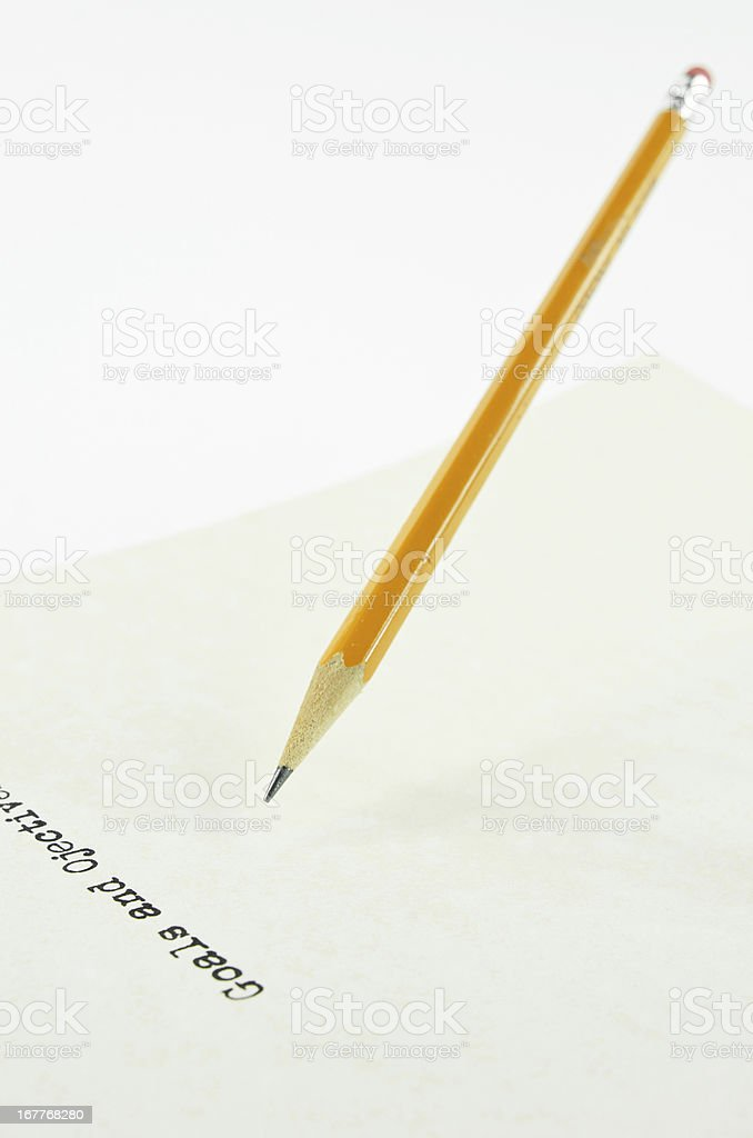 Pencil and Goals royalty-free stock photo