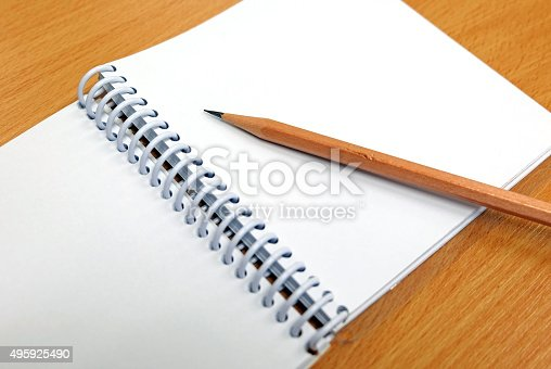 istock Pencil and notebook 495925490