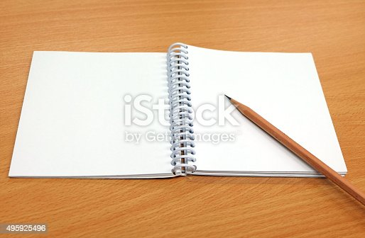 istock Pencil and notebook 495925496