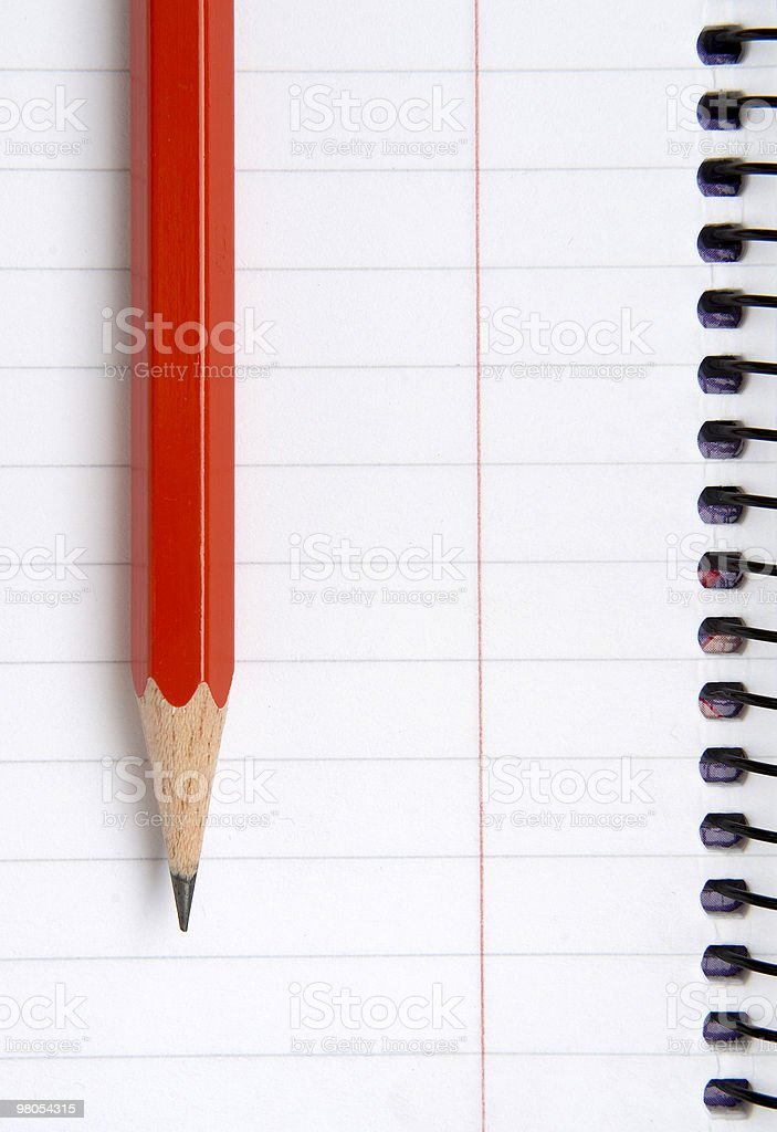 pencil and notebook school supplies royalty-free stock photo