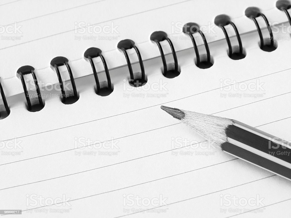 pencil and notepad royalty-free stock photo